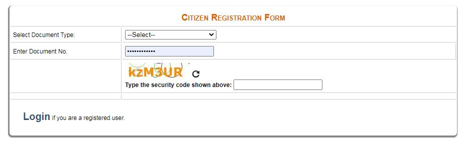 delhi e district citizen registration form