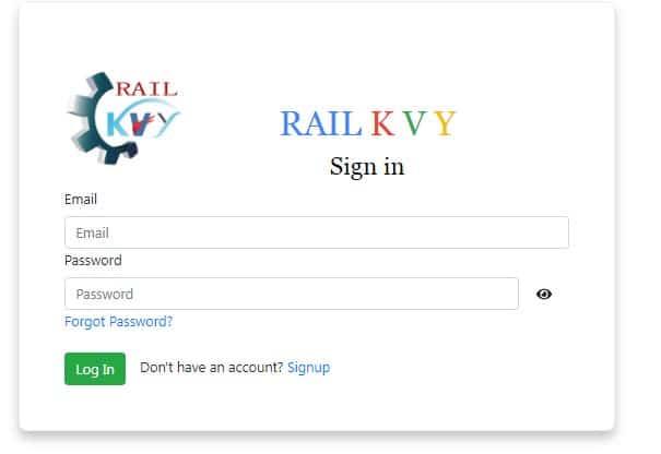 rail kaushal vikas yojana login