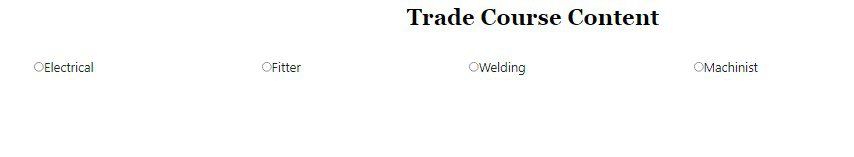trade course content